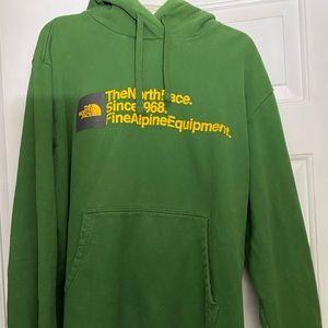 XXL men's North face green hoodie
